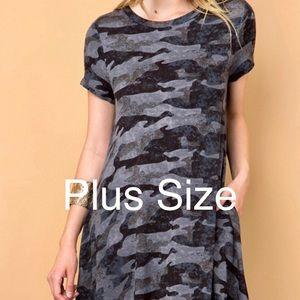 Dresses & Skirts - Gray Camo Dress